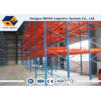 Quality High Densities Push Back Pallet Racking Storage With Three / Four Deep Systems for sale