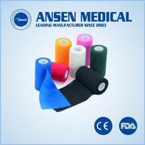 Quality Medical Dressing Elastic Bandage Cohesive Vet Wrap Tape for sale
