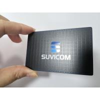 Quality Customized Stainless Steel Matte Black Metal Business Member Card With Color Painted Logo for sale