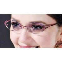 Quality Woman′s Rimless Crystal Eyeglasses Optical Eyewear Frames for sale