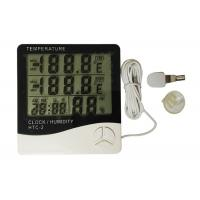 Quality White Color Digital Weather Thermometer , Digital Indoor Outdoor Thermometer for sale