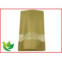 Best brown kraft paper bag with clear window and zipper wholesale