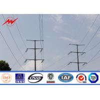Best IP65 132kv Multi - Sided Galvanized Steel Pole For Overhead Line Project wholesale