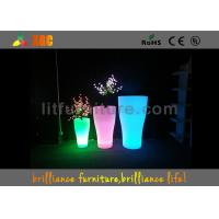 Quality Indoor And Outdoor LED Flower Pots With Pe Material , Remote Control Battery for sale