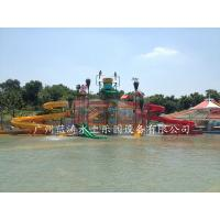Buy Aqua Park Giant Water Playground Equipment With Water House / Water Slide at wholesale prices