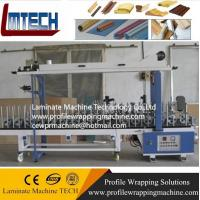 Quality parquet wood flooring machine Profile wrapping machine for sale