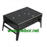 Quality Portable Steel BBQ Grill in Black Color with Neutral Packaging Color Box In Stock for sale