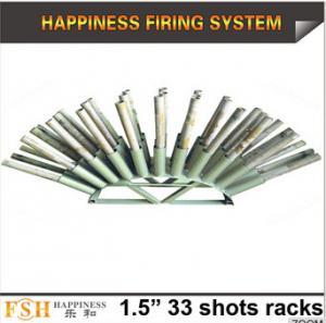China Liuyang Happiness 1.5 33 shots Roman candle fireworks display racks on sale