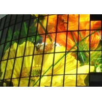 Quality IP45 450W 1R1G1B Outdoor Transparent Led Screen For Showcase for sale