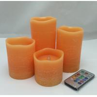 Best flameless candles with rustic effect ,good scent,remote and timer, color changing flicker wholesale