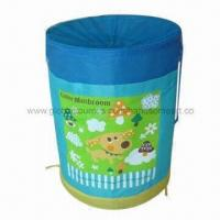 China Pop-up cartoon laundry bag/hamper with large carrying capacity on sale