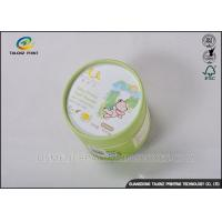 Quality Small Round Packaging Paper Tube Cardboard Storage Can With Logo Printing for sale