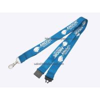 Quality Blue Polyester Imprinted Custom Lanyard, Lanyard with Plastic Release Buckle for sale
