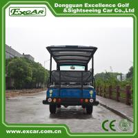 Buy 8 Seater Electric Shuttle Bus With 12*6v Trojan Battery Steel Alloy Frame at wholesale prices