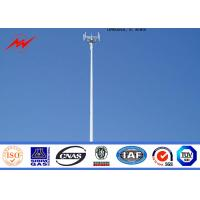 China Tapered Monopole Antenna Tower Galvanised Mobile Communication Tower Three Sections on sale