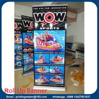 Buy cheap Wide Base Aluminum Roll Up Stand with Printing from wholesalers