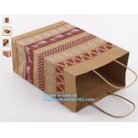 Quality LASER laminated carrier Luxury paper hand bag,Kraft Paper Bag with Handle for Gift Wholesale,Matt Gold Shopping Retail P for sale