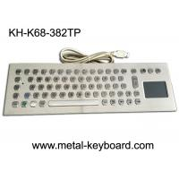 Quality Computer Industrial Keyboard with Touchpad , 70 Keys Waterproof Keyboard With Touchpad for sale