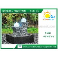 Quality Carved Granite backyard Water Fountains Glass Crystal Balls For Decoration for sale