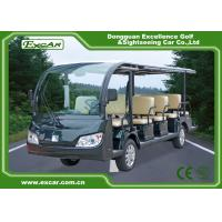 Quality 14 Seater Electric Sightseeing Bus , 72v Electric Shuttle Car for sale