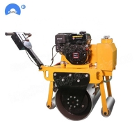 Quality 3 ton Hand Operated  Double Drum Vibratory Road Roller Mini Road Roller Compactor For Sale for sale