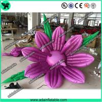 Quality Club Event Decoration Inflatable,Club Party Decoration, Inflatable Purple Flower for sale