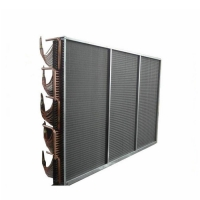 Quality 12.75mm Thermal Oil Copper Fin Type Heat Exchanger For R417A Refrigerant for sale
