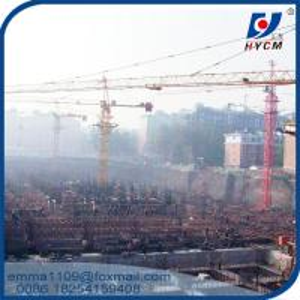 China QTZ63 Inner Climbing Tower Crane Lifting Capacity 6 Tons 50m Working Jib on sale