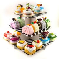 Eco-Friendly 157g Art Paper Cardboard POP Display Stand For Cake With Oil Printing