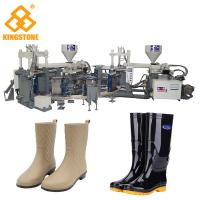 Quality Rain / Water Boot / Gumboot/ mineral worker boot Dual Injection MoldingMachine Rotary Type for sale