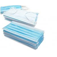 Quality Blue 3 Layer Medical Face Mask High Filtration Efficiency With Ear Loop for sale