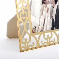 Quality Vertically Stand Metal And Glass Photo Frame , A4 Glass Picture Frames for sale