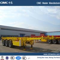 China 20ft skeletal container trailer chassis 30 tons on sale