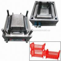 Quality Plastic Vegetable Crate Mold, Hot Runner System, Automatic Work, Customized Designs are Accepted for sale