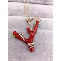 Best Fantasy Red Corallite Tree Sterling Silver Pendants Crytal Leafs wholesale