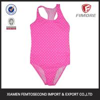 China Children Fancy Girl's small dot printed one piece swimming suit on sale