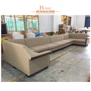 China Custom Walnut Oak Beech Wooden Hotel Lobby Sofa / Living Room Sofa on sale