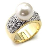 Quality Fashion Alloy Pearl Jewelry Finger Rings for sale