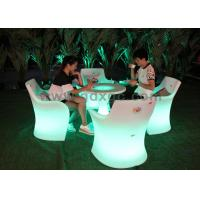 Best Outdoor Waterproof Plastic lighted up  Pub Table And Chairs Customized wholesale