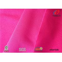 Double Brushed Poly Spandex Fabric , Polyester Lycra Blend Fabric High Weight
