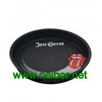 Quality Bar use or beer promotional use large round metal tin serving tray with custom Logo and graphic for sale