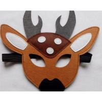 Quality 2017 new style party felt deer pattern mask for sale