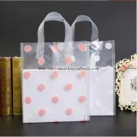 Quality Recycled Die Cut Handle Bags , PE Clear Plastic Shopping Bags With Handles for sale
