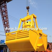 Quality 25t 6-12m3 Motor Electric Hydraulic Clamshell grab for deck crane for sale