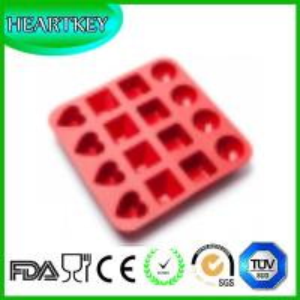 China New 16-Cavity Cake Chocolate Baking Pans Silicone Baking Tray Cake Pan Bakeware tools on sale