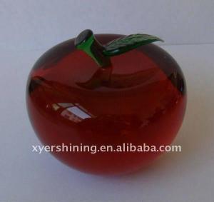 China Christmas gifts crystal apple on sale