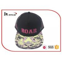 Quality Bright camouflage pink emb adjustable baseball caps for adults with cotton mix Material for sale