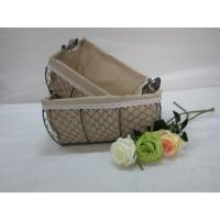 Best storage mesh wire baskets with fabric liner set of two wholesale