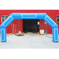 Best Giant Blue Inflatable Start Finish Arch Digital Printing With Custom Logo Banner wholesale