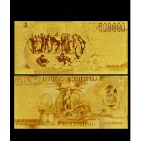 Best Italy 999 Gold Foil Italy 500000 Lire Gold Foil Banknote For Office Decoration wholesale